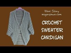 Crochet cardigan , chunky and elegant ! You will need a big 9 mm crochet hook and a chunky soft yarn about 8 balls of You can findThis cardigan and mor. Crochet Diy, Top Tejidos A Crochet, Diy Crochet Sweater, Poncho Au Crochet, Pull Crochet, Crochet Cardigan Pattern, Crochet Jacket, Crochet Poncho, Crochet Clothes