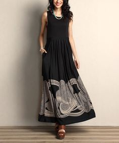 eeb04756bfe5 Look at this Reborn Collection Black   Taupe Cloud Tank Maxi Dress on   zulily today