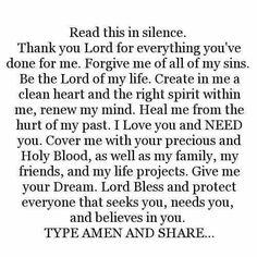 thank you Lord ❣ I pray this in Jesus Christ name AMEN ❤🌼 Faith Prayer, God Prayer, Power Of Prayer, Prayer Quotes, Faith In God, Faith Quotes, Bible Quotes, Bible Verses, Qoutes