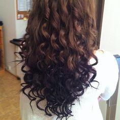 Perfectly curly and a chocolate brown with black underneath Hair Styles 2016, Curly Hair Styles, Hair Dye Colors, Hair Color, Dark Brown Long Hair, Blond, Hair Dyed Underneath, Peekaboo Hair, Blue Ombre Hair