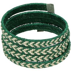 "Spiral, Color Caña Flecha and Cotton Bracelet  Crafted by Artisans in Colombia  Measures 1-1/4"" wide with variable diameter"