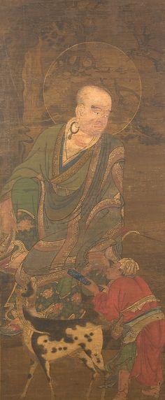 Rakan 羅漢図 by Unidentified Artist, Muromachi period (1336–1573)