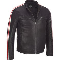 Wilsons Leather Faux-Leather Cycle Jacket