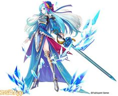 Brave Frontier Selena in Phantom of the Kill | female magus ice water kineticist fighter wizard aquatic elf undine naiad