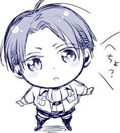 The most adorable Rivaille chibi I've ever seen <3