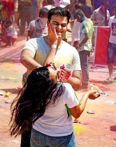 Revellers play Holi at the Bolly Boom event at Tulip Star Hotel in Juhu. Pic/Rane Ashish : In Pictures: Mumbai celebrates Holi