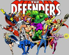 The Defenders is my favorite superhero team of all time. Unlike many fans, though, I didn't care much for the original group (Hulk, Dr. Strange, Silver Surfer and Namor). I preferred the later incarnations with Valkyrie, Nighthawk, Clea, Hellcat, etc.
