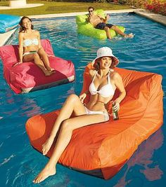 A true piece of floating furniture, our Sit-in Pool Float is the only design in the U.S. to bring the unmatched comfort of memory foam to your aquatic environment.