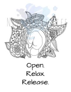 Open, Relax, Release – Birth Affirmation Coloring Page Pregnancy Affirmations, Birth Affirmations, Mantra, Adult Coloring, Coloring Books, Birth Art, Diaper Bag, Mandala Coloring Pages, Natural Birth