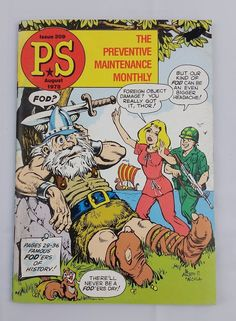 PS August 1978 Issue 309 The Preventive Maintenance Monthly Army Booklet Cartoon #PS