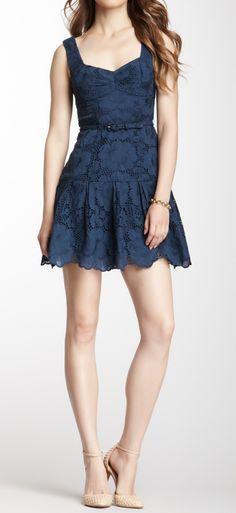 Lace belted dress>>> A bit short but I LOVE it.