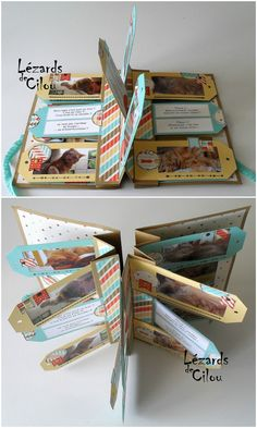 idea for mini album ♥ Mini Albums Scrapbook, Scrapbook Journal, Scrapbook Cards, Mini Albums Photo, Album Photo, Album Journal, Karten Diy, Mini Album Tutorial, Handmade Books