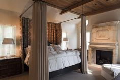 antique master bedroom canopy bed - Google Search