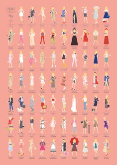 re:design studio celebrates sex and the city's anniversary with a poster featuring carrie bradshaw's 69 most memorable outfits.