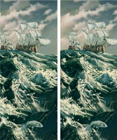 stereo view painting: home run | Flickr - Photo Sharing!
