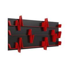 nero opaco/rosso