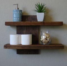 Modern Rustic 2 Tier Floating Wall Shelf by KeoDecor on Etsy https://www.etsy.com/listing/160830970/modern-rustic-2-tier-floating-wall-shelf
