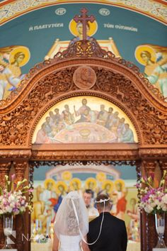 Greek Orthodox wedding church photo by Chicago wedding photographer Nakai Photography http://www.nakaiphotography.com