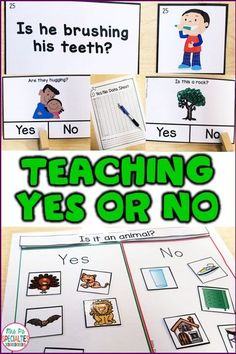 Understanding yes versus no can be really challenging for special education students- especially students with autism. This set offers a variety of ways to practice and generalize their skills. This set is idea for special education teachers, speech therapists, students with autism and multiply disabled students.