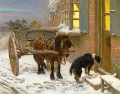 John Sargent Noble. 1848-1896. Their Christmas Eve.