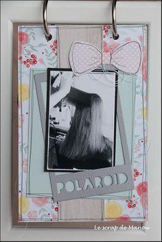 Histoire de cheveux!   MANOUSCRAP Mini Albums, Polaroid Film, Frame, Scrapbooking, Ikea Frames, Minis, Hair, Picture Frame, Scrapbooks