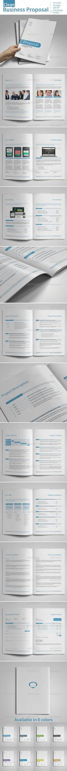 Clean \ Professional Proposal Template with include Invoice - event proposal template