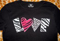 Wild Animal Print Love Shirt