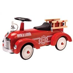 Schylling-Metal-Speedster-Fire-Truck toy frog driving toy on toys for kids on toy ride on toys riding toys Toddler Toys, Kids Toys, Ride On Toys, Rubber Tires, Fire Engine, Tricycle, Fire Trucks, Cool Toys, Wooden Toys