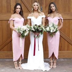 Our Indyana Gown with #bridesmaids in our Olympia Dress  #wedding #whiterunway