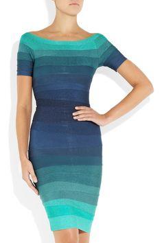 12 Days of Holiday Dresses - Herve Leger Ombre Bandage Dress