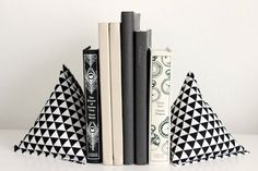 Fabric Pyramid Bookends | Whimseybox