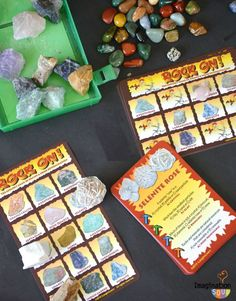 My kids love this Rock On! geology game and kit - talk about making learning fun! Teaching Science, Science For Kids, Earth Science, Activities For Kids, Experiment, Learning Apps, Kid Rock, Camping With Kids, Rocks And Minerals