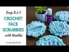 The Best Crochet Face Scrubbies with Handles - YouTube Diy Crochet Face Scrubbies, Crochet Faces, Crochet Toys, Knit Crochet, Crochet Dragonfly Pattern, Crochet Patterns, Crochet Crafts, Crochet Projects, Crochet Tutorials
