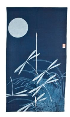 Japanese Dragonfly Noren (Blue)