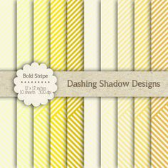 "Digital Paper Pack - Bold Stripe in Yellow Shades - 12 x 12"" Digital Scrapbook Paper #scrapbooking #scrapbook #paper #digiscrap #supplies #pages #stripes #striped #yellow"