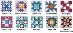 9-inch star blocks from 501 Rotary-Cut Quilt Blocks B