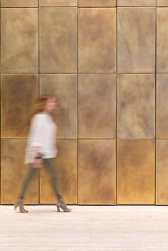 Custom Brass Lobby Wall   New York, NY
