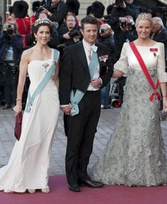 Crown Prince Frederik with Mary and Crown Princess Mette Marit of Norway