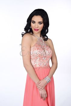 Envious Couture 16348 Coral Prom Dress