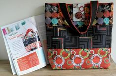 New blog post - July issue of Sewing World magazine featuring my Uptown Tote Bag sewing project.