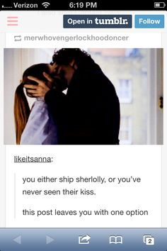 The moment I started shipping Sherlolly to the moon and back and up again. Sometimes you don't realize something is perfect until it's spelled out for you.