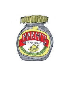 Items similar to marmite on Etsy Best Of British, Marmite, British Invasion, Cute Tattoos, Watercolours, Imagination, Typography, Artists, Drawings