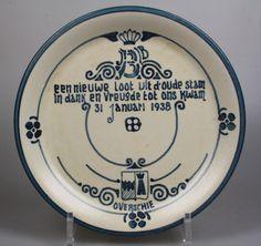 R.A.F. Overschie commemorative plate Beatrix 1938