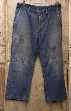 Vintage 40s French Workwear pants by RaggedyThreads on Etsy, $200.00