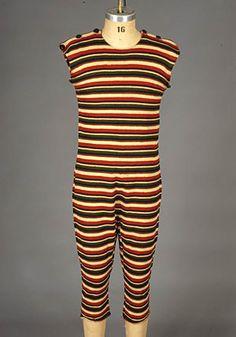 Men's bathing suit, ca 1910