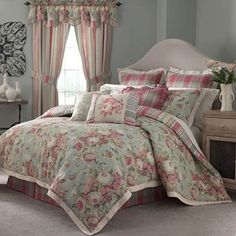 Waverly® Spring Bling Reversible Floral Comforter Set & Accessories found at Waverly Bedding, King Size Comforters, Bedroom Makeover, Comforter Sets, Bedding Sets, Chic Bedroom, King Comforter Sets, Home Decor, Bedding Collections