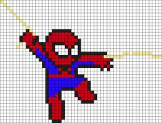 spiderman perler beads - Google Search