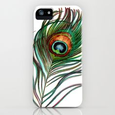 Peacock Feathers iPhone & iPod Case by Jody Edwards Art - $35.00