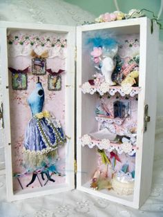 by dawns. 2 years ago Inside of altered box. This is Marie Antoinettes closet. The box itself is 8x 3 1/4 inches, everything inside is made ...