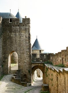Carcassonne gateway - Aude, France  | by © Kallie Brynn